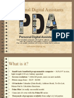 PDA MOBIL TECHNOLOGY WORK