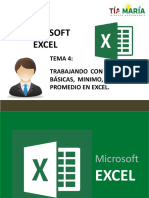 SESION 4 - EXCEL