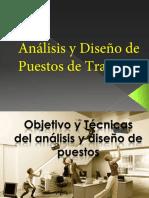 Análisis y diseño de Puestos de Trabajo 2