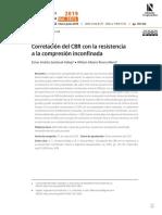 Correlación CBR con Cu