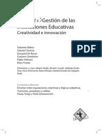 Gestión de las instituciones educativas. Creatividad e innovación.pdf