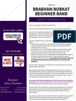 bms beginner band august newsletter