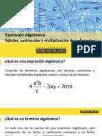 1. Expresiones algebraicas y Productos notables