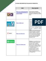 Recursos para evaluación formativa.