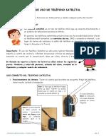 GUIA DE USO  - TELEFONO SATELITAL