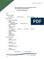 Formato de candidato a programas de doctorado de la UAN