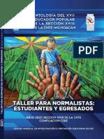 Antología del XVII Educador Popular de la Sección XVIII de la CNTE en Michoacán. Taller para Normalistas