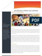Capacity Building on Market led Livelihoods