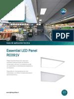 F.T. 2Luminaria PANEL LED (F)