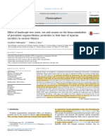 Effect of landscape tree cover, sex and season on the bioaccumulation of persistent organochlorine pesticides in fruit bats of riparian corridors in eastern Mexico