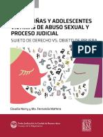 Niños, niñas y adolescente en los procesos de abuso sexual infantil