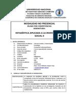 sílabo de Estadística Aplicada Invest. Social II-2020