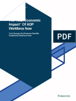 Economic impact of ADP Workforce Now