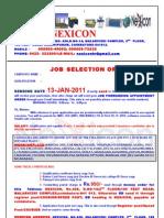 Nexicon Selection Order
