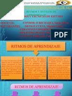 RITMOS Y ESTILOS DE APRENDIZAJE