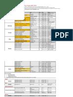 OAEC 2020 秋季网课课表