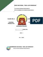 SILABO DE CONTROL BIOLÓGICO DE PRODUCTOS AGROINDUSTRIALES