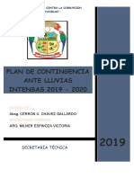 PLAN DE CONTINGENCIA - PARIAHUANCA
