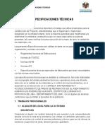 ESPECIFICACIONES TECNICAS - TRABAJA PERU LAS RIVERAS