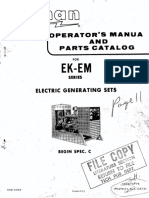 928-0302 Onan EK EM  Operators's Manual( 7-1975)