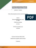 Taller análisis presupuestal, producción y ventas de una empresa