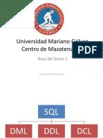 BD SQL(1)
