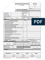 QC-143 R2 Distribution Panel Checklist