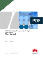 MTS9300A V100R002C00 Multiple Telecommunication System User Manual