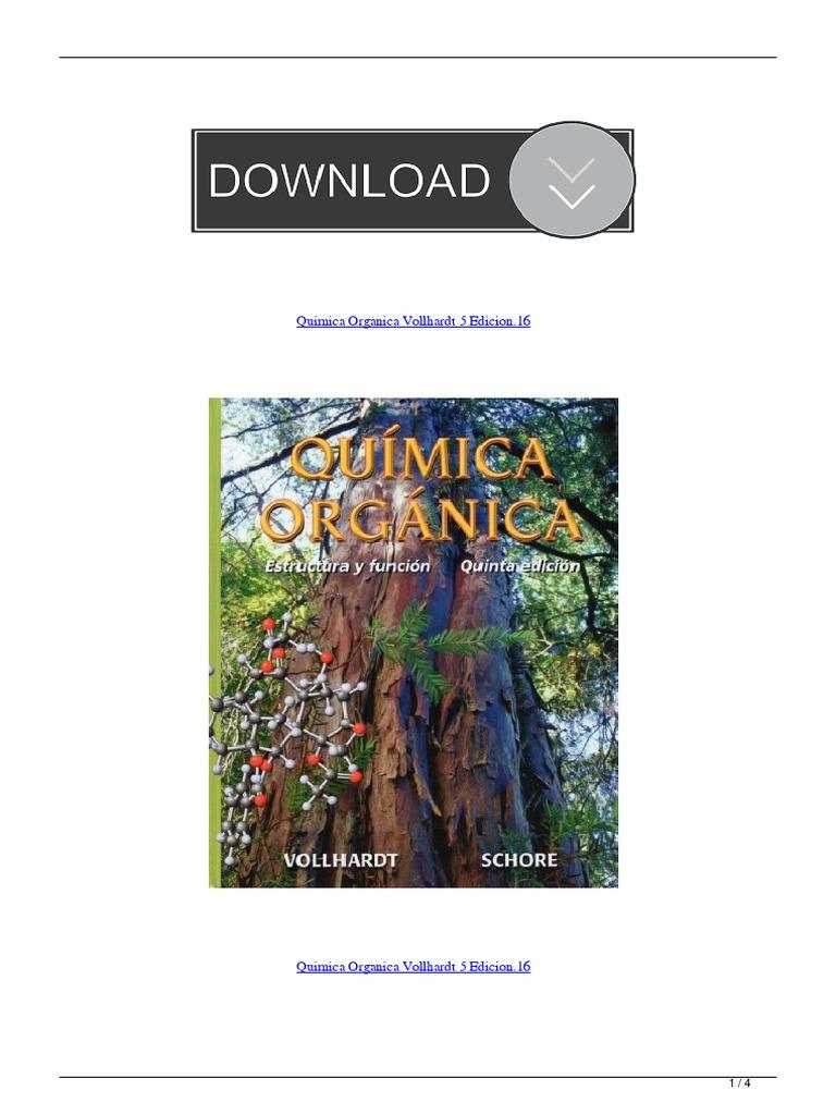 Quimica Organica Vollhardt 5 Edicion16 Pdf Física Molecular Química Orgánica