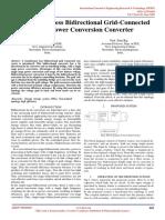 Transformer less Bidirectional Grid-Connected Single Power Conversion Converter