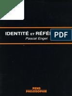 Pascal Engel - Identité et référence, la théorie des noms propres chez Frege et Kripke-Presses de l'École normale supérieure (1985)