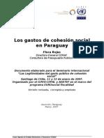 Paper Gastos Cohesión Social-Flora Rojas Py 15-03-07