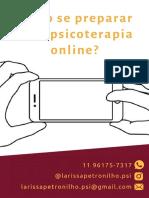Instruções Para Psicoterapia Online