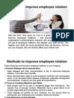 mesasured methods for emplyee