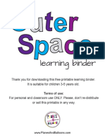 Space learning binder