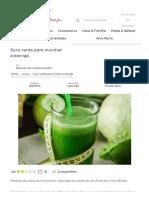 receita de Suco verde para murchar a barriga