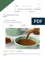 receita Chocolate quente do Igor Rocha