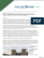 Jornal do Brasil - Rio - Parecer do Ministério da Fazenda sugere fim da Uerj