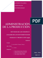 ESTUDIO DE LOS TIEMPOS Y ANALISIS DE LOS MOV. DE TRAB.