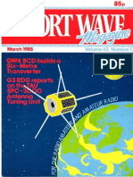 SOR. March Volume 43 Number 1. GW4 BCD builds ek. Six -Metre Trapsverter. G3 RDG reports. onth= AU. SPC-3 b 0. Antenna.