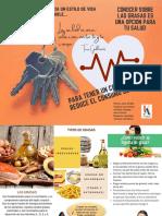 folleto prevención del consumo de grasa, sales y azucares