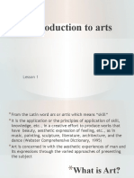1 Arts definition and classification