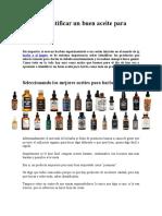 Cómo identificar un buen aceite para barba