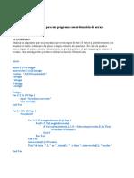 Modulo 4 Realización de algoritmo para un programa con ordenación de arrays