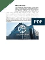 De qué trata el Banco Mundial