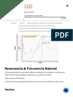 Resonancia & Frecuencia Natural - ERBESSD INSTRUMENTS