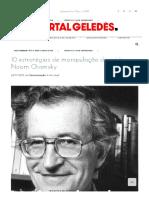 10 estratégias de manipulação da mídia - Noam Chomsky - Geledés