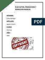 Derechos de autor producción y promoción musical