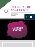 TECNICAS DE EVALUCIÓN