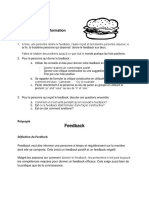 P1 - Definition feedback et retro information